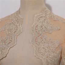 Long Sleeve Wedding Lace Cover Ups Retro Style Lace Bridal Boleros, white, plus image 9