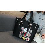Badge Bag Cartoon Sequins Women Bags Nylon Handbag Large Capacity Should... - £33.65 GBP