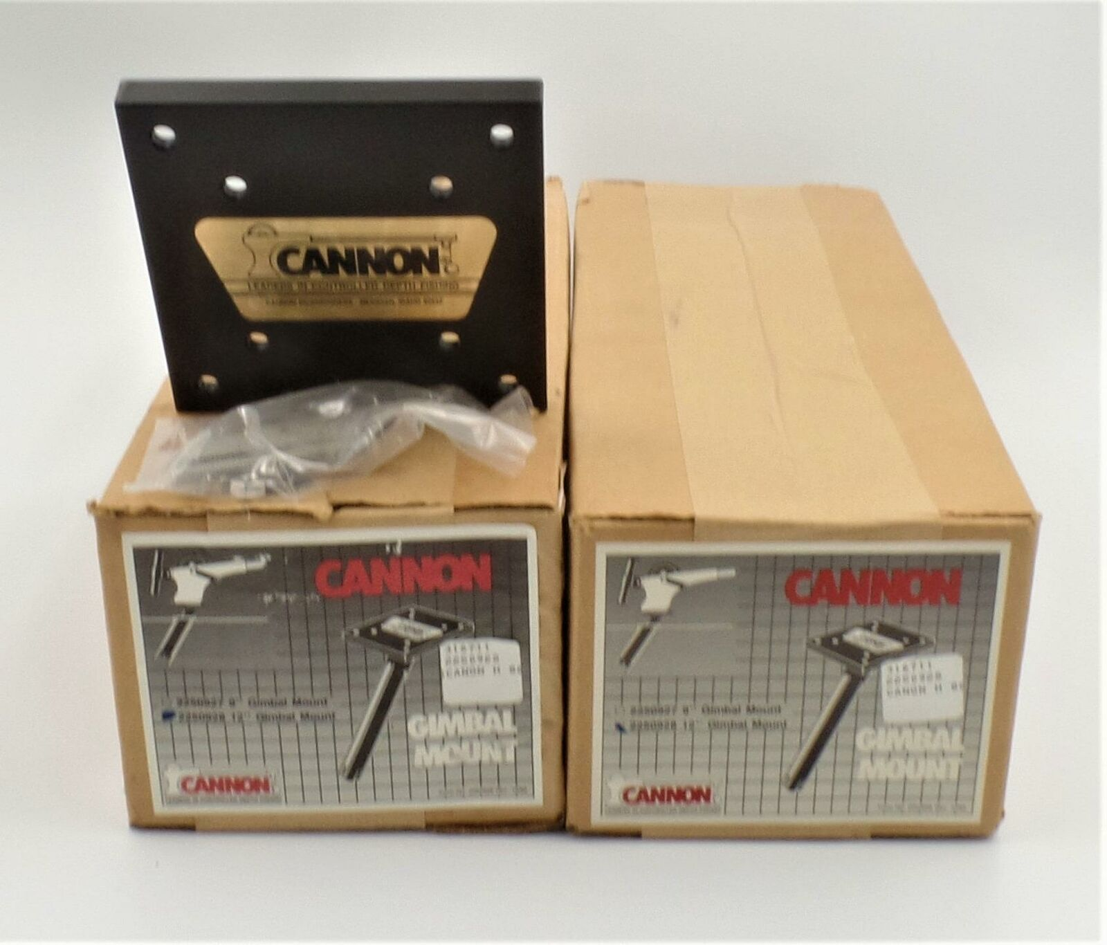 "Primary image for Cannon Gimbel Mount 12"" 2250928 LOT of 2 Downrigger Rod Holders Tube"