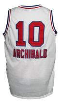 Nate Archibald #10 Cincinnati Kings Basketball Jersey New Sewn White Any Size image 4