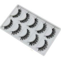 BAHYHAQ - 5 Pair/Lot Crisscross False Eyelashes Extension natural Black - $1.98