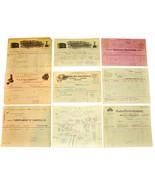 9 1901 CHICAGO IL Billhead Document Receipts Electric Iron Regulators Va... - $24.99