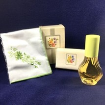 Avon 1982 Floral Gift Set Field Flowers Cologne, Handkerchief with Soap ... - $14.92