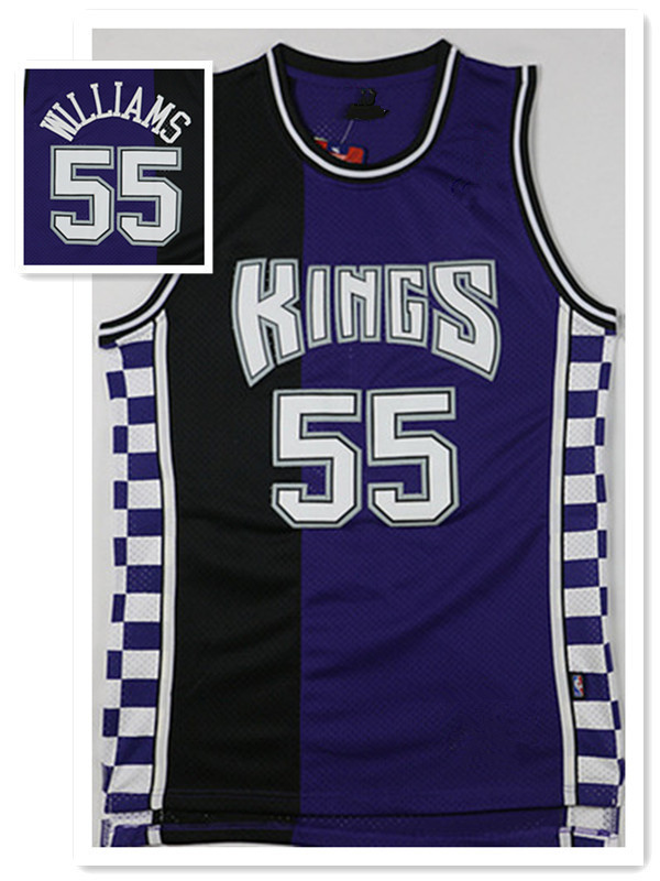 Sacramento Kings #55 Jason Williams Purple Black Basketball Jersey for sale  USA
