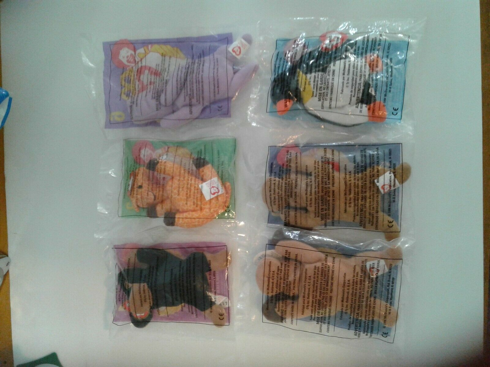 McDonalds Beanie Baby Happy Meal Toys 1998