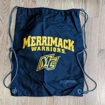 Merrimack College Black Nylon Cinch Backpack Gym Book Bag Jansport - $13.99