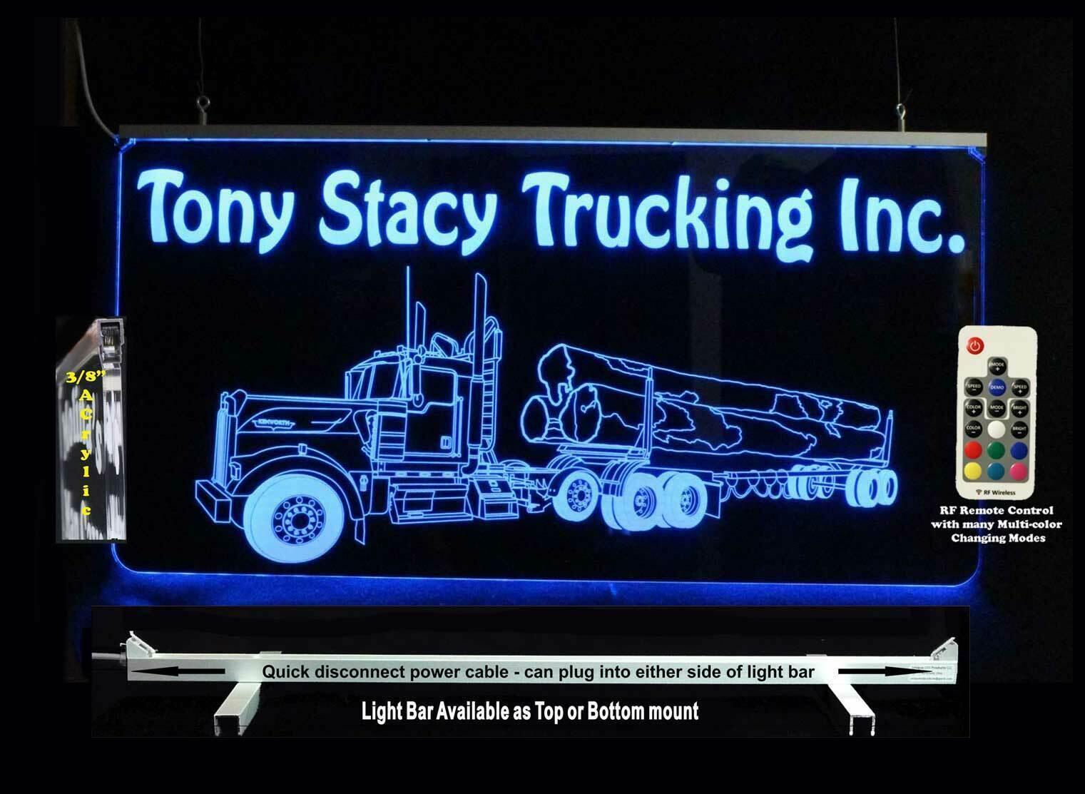 Custom Logging Truck Sign, Garage Sign,  Man Cave Sign