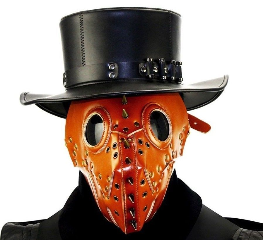 Halloween Devil Ghost Face Mask Leather Grimace Cosplay Steampunk Plague Horror