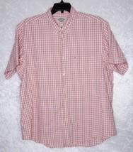 Ralph Lauren XXL Mens Short Sleeve Plaid Print Cream & Red - $31.50