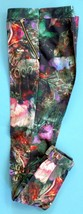 Women's TED BAKER London Olive Green Floral Leggings Size XS 4 Cuffed Si... - $44.55