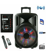 beFree Sound 12 Inch Bluetooth Rechargeable Party Speaker With Illuminat... - $76.31