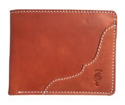 Designer Bi-Fold Genuine Leather Wallets for Men Brown ORIGINAL Jarzi Joris - $15.70