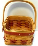 Longaberger 2000 Let It Snow Tree Trimming Basket, Red, handle, no lid o... - $14.49