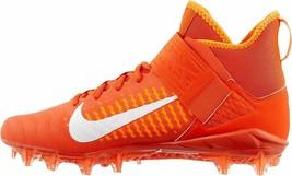 NIKE Alpha Menace Pro 2 Mid Mens Sz 10.5 Football Cleats Team Orange AQ3209-800 - $28.59