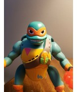 "TMNT- Michaelangelo Figurine, 6"", poses, left loose leg. Used - $14.03"