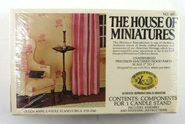 Vintage House Of Miniatures Queen Anne Candle Stand #40013 New Sealed - $8.95