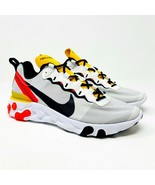 Nike Nike React Element 55 White Black Bright Crimson Mens Size 8.5 BQ61... - $100.00