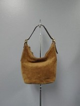 COACH Brown Suede 3 Inside Compartment Top Zip Medium Casual Shoulder Ba... - $35.59