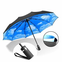 Fashion Strong Wind Resistant Double Fully Automatic Umbrella Folding Fi... - $30.38