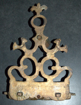 Judaica Oil Menorah Hanukkah Vintage Wall Hang Bronze North Africa Hanukkiah  image 4