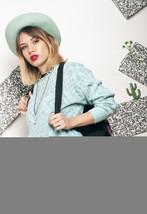 Silver knit jumper - 80s vintage sweater - $34.37