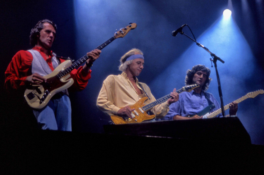 Primary image for Mark Knopfler Dire Straits concert all playing guitars 18x24 Poster