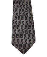 Gatsby Pure Silk Italian Gray Light Pink Handmade Geometric Print Men's ... - $19.79