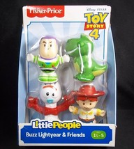 Toy Story 4 Fisher Price Little People 4 pack #1 Buzz Rex Forky Jessie NEW - $8.75