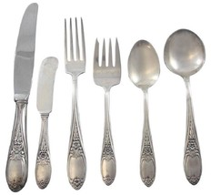 Colonial Rose by Amston Sterling Silver Flatware Set for 8 Service 48 Pi... - $2,250.00