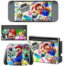 Nintendo Switch Joy-Con Dock Console Vinyl Skin Decal Stickers Super Mario Party - $9.70