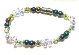 Beaded Bracelet Magnetic Hematite Clasp Single Strand   7 Inch   (MAG-018) image 3