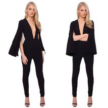 Women's Fashion Slim Split Bell Sleeve Sexy Dee... - $16.00
