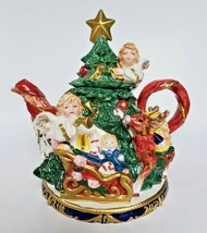 1997 Omnibus by Fitz and Floyd Angel Christmas Tree Teapot 2028/50 China... - $58.04