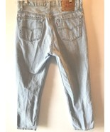Vintage Levis 501 Jeans Mens size 34x30 31 Light Wash Button Fly made in... - $44.95