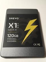 DREVO DRE X1 SSD 120GB SATA 3 INTERNAL 2.5 SOLID STATE DRIVE DISK 758330... - $39.99