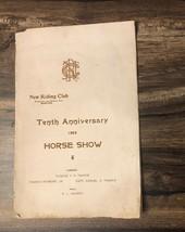 Boston 10th Anniversary New Riding Club Original 1902 Horse Show pamphlet - $6.44