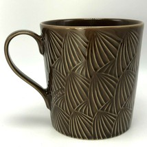 Starbucks by Design House Stockholm Coffee Cup Mug 2009 Dark Brown Pattern Mint - $21.49