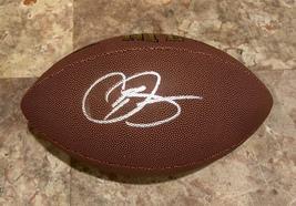 ODELL BECKHAM Jr. AUTOGRAPHED SIGNED WILSON NFL FOOTBALL Cleveland BROWN... - $139.99