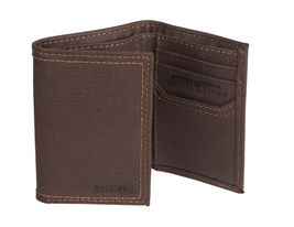 Levi's Men's Rfid Blocking Zipper Coin Credit Card ID Trifold Wallet Brown image 4