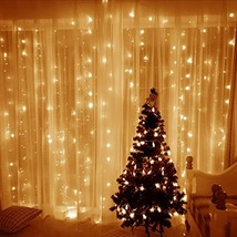 Ucharge Curtain Lights, 600 LED 19.6ft x 9.8ft 8 Modes Icicle String Lig... - $31.61