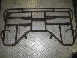 SUZUKI 1997 250 QUAD RUNNER 4X4 REAR RACK (HAS RUST DENTS AND NEEDS PAIN... - $50.00