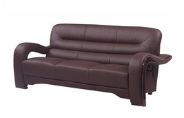 Global Furniture 992 Contemporary Brown Premium Leather Match Sofa - $1,250.00
