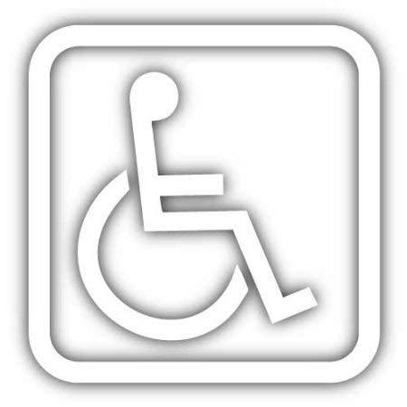 "Primary image for Handicap Disabled Wheelchair Symbol Vinyl Decal - size: 5"", color: WHITE - for W"