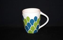 Starbucks Embossed Scalloped Green Blue Shells Leaves 2009 MUG Appears U... - £17.64 GBP