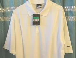 Nike Golf DRI-FIT Men's Sz Xl Rugby White Golf Polo 363807 100 Msrp $65 - $13.99