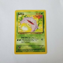 Pokemon Base Set 1999 Koffing Card MP 51/102 TCG Trading Card Game Unlimited - $0.99