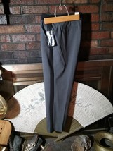 Ladies GEORGE  Slacks Pants  Black Stripe and Waist Band Charcoal Gray 1... - $12.25