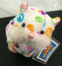 "Ganz Mazin Hamster Hope Plush Toy with Tag First Edition 4.5"" Peace Signs - $8.69"