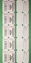 100 White Colored Raffle Tickets Double Roll 50/50 Carnival Fair Split t... - $5.45