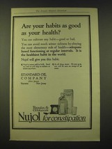1918 Standard Oil Company Nujol Ad - Are your habits as good as your health? - $14.99